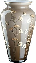 OertelCrystal Bodenvase Smoke/Gold