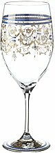 OertelCrystal Weinglas groß Serail, Glas, Transparent-gold-türkis, 23 x 8.5 x 8.5 cm