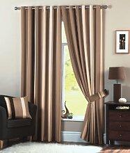 Öse Vorhänge, fertige Vorhänge, 168cm x 183cm, Sahne