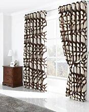 Öse Vorhänge, fertige Vorhänge, schwere Vorhänge, 229cm x 274cm, schokoladenbraun