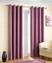 Öse Vorhänge, thermische fertige Vorhänge, blockieren das Sonnenlicht, 228cm x 137cm, lila
