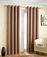 Öse Vorhänge, thermische fertige Vorhänge, blockieren das Sonnenlicht, 228cm x 228cm, natürlich