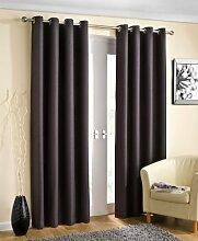 Öse Vorhänge, thermische fertige Vorhänge, blockieren das Sonnenlicht, 114cm x 183cm, grau