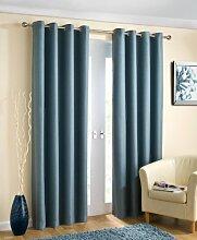 Öse Vorhänge, thermische fertige Vorhänge, blockieren das Sonnenlicht, 168cm x 228cm, blau