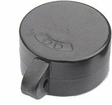Ösenkappen Hart-PVC schwarz für Rohrpfosten Ø