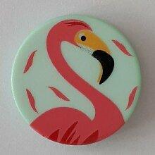 Ösenknopf Flamingo, 18mm, grün