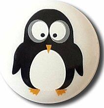 Ösenknopf Pinguin, 15mm, weiß