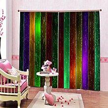 Ösenschal Gardinen Farbstreifen 2Er-Set