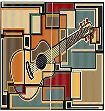 Ösenschal Gardinen Gitarre 2Er-Set Verdunkelungs