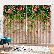 Ösenschal Gardinen Wandpflanze 2Er-Set