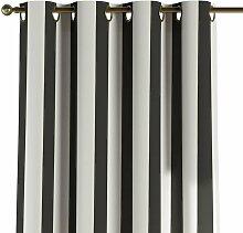 Ösenschal, schwarz-weiß, 1 Stck. 130 × 260 cm,