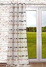 Ösenschal Stripes 140x245cm Natur-braun als