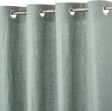 Ösenvorhang aus gewaschenem Leinen,