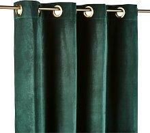 Ösenvorhang aus smaragdgrünem Samt, 1 Vorhang
