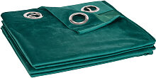 Ösenvorhang aus smaragdgrünem Stoff 140x250