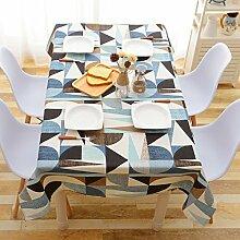 Östliches mittelmeer-stil-tischdecke blue [amerikanisches dorf] edge lÄndlichen] rechteck tischdecke.-Blau 90x140cm(35x55inch)