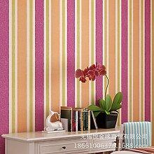 Östliches Mittelmeer vertikale Streifen Vlies Tapete moderne minimalistische Schlafzimmer Wohnzimmer Stiltapeten , 69054 red
