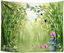 OEWFM Tapisserie Schmetterling Bambus Blume