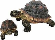 OF Gartenfigur 2er Set Schildkröten für außen