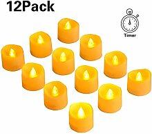 oFami LED Teelicht LED Kerze,12 LED Flammenlose