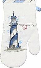 Ofen-/Grillhandschuh - Leuchtturm 1 Stück - perfekt für die maritime Dekoration