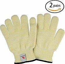 Ofen hitzebeständig Ofen Handschuhe (Gelb-2)