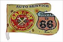 Ofen Topf Handschuh Garage Auto-Service bedruckt Tankstelle