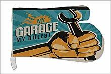 Ofen Topf Handschuh Oldtimer Auto Meine Garage bedruck