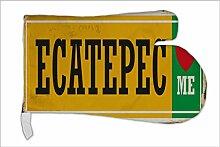 Ofen Topf Handschuh Stadt Ecatepec Mexiko bedruck