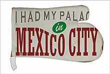 Ofen Topf Handschuh Stadt Mexiko City bedruck