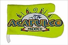 Ofen Topf Handschuh Urlaub Reisebüro Acapulco Mexiko bedruck
