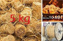 Ofenanzünder Kaminanzünder Grillanzünder Holzwolle Wachs - Anzünder für Kamin Grill Ofen - 5 kg Karton - geprüft nach DIN EN 1860-3 (bis zu 10 Min. Brenndauer) (ca. 400 Anzünder)