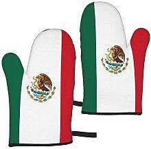 Ofenhandschuhe mit Flagge von Mexiko,