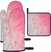Ofenhandschuhe und Topflappen-Set, Kalbarri Pink