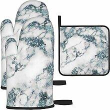 Ofenhandschuhe und Topflappen Set, Kristalle