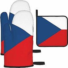 Ofenhandschuhe und Topflappen-Set, Tschechische