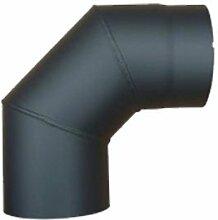 Ofenrohr 2mm 150mm Bogen 90° ohne Tür Gussgrau