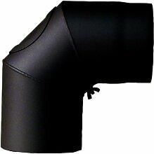 Ofenrohr-Bogen 120 mm, 90 mit Tür, schwarz 2003075