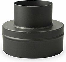 Ofenrohr Erweiterung 120 mm > 200 mm Schwarz -