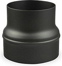 Ofenrohr Erweiterung 130 mm > 160 mm Schwarz -