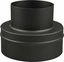 Ofenrohr Erweiterung 130 mm > 200 mm Schwarz -