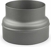 Ofenrohr Reduzierung 200 mm > 160 mm Gussgrau