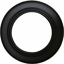 Ofenrohr Rosette Bogen Rohrhalter Kaminzubehör schwarz & grau versch. Größen, Farbe:schwarz, Bauteil:Rosette Ø 130 mm