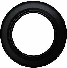 Ofenrohr Rosette Bogen Rohrhalter Kaminzubehör schwarz & grau versch. Größen, Farbe:schwarz, Bauteil:Rosette Ø 150 mm