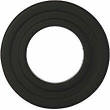 Ofenrohr Rosette Bogen Rohrhalter Kaminzubehör schwarz & grau versch. Größen, Farbe:schwarz, Bauteil:Rosette Ø 80 mm