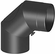 Ofenrohr Winkel 90° mit Tür; 150mm Durchmesser,
