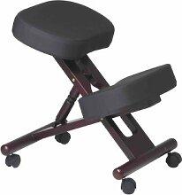 Office Star ergonomisch entworfen Knie Stuhl mit Rollen und Memory Foam Mahagoni, Holzboden Mahogany Mahogany Wood Base