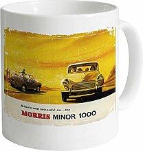 Official Morris Minor - 1000 Vintage Becher, Weiß