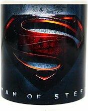 Offizielle DC Comics Mann von Stahl 3D Film Logo weiß Kaffee-Haferl - Geschenk Box
