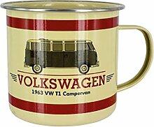 Offizielle Volkswagen 1963 T1 Campervan Emaille-Becher - VW Campervan Tin Camping Cup